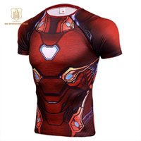 T- Shirt Super Men Batman 3D Printed Short Sleeve Fitness Tig...