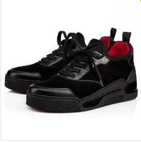 quality design a87d7 ad126 2018 Red Bottom Herren Sneakers Aurelien Flache Liebhaber Echtes Leder High  Top Casual Wohnungen Rote Untere