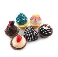 DHL livre New Cupcake Lip Gloss Bálsamo 6 Saborosos Gloss Bálsamo de Natal Segredo Santa Lipgloss Batom Bolo De Morango De Chocolate Cereja Creme