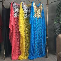 Dashiki моды Водорастворимых кружев свободные юбки 2019 нового стиля африканских женщин с бисером вышивки длинного платья