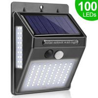 정원 장식을위한 2020 새로운 100 LED 태양 빛 야외 태양 램프 PIR 모션 센서 벽 빛 방수 태양 전원 햇빛