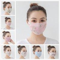 Frauen-Schal-Gesichtsmaske aus Seidenchiffon Sommer Outdoor-Anti-UV-windundurchlässiger Staubdicht Sonnenschutz Masken Gesichtsschutz DDA74