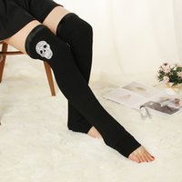 Autumn and winter cotton plus velvet thickened knee- length b...