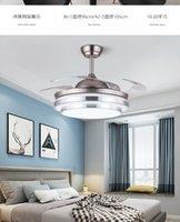 Rmamary потолочный вентилятор свет 110V 220V невидимый вентилятор свет серебро 36 / 42inch пульт дистанционного управления 110v220V настенное управление потолочный светильник вентилятор лампы