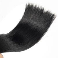Conseil brésilien Noir Droit Double Drawn Plat Pré Bonded Extension 100 g Kératine 100% Remy Cheveux Vierge Non traité