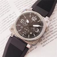 스위스 브랜드 군대는 남성 시계 스테인레스 스틸 케이스 고무 스트랩 남성 BR 시계 쿼츠 무브먼트 크로노 그래프 모든 다이얼 작업 시계를보고