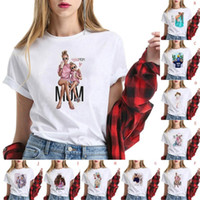 Harajuku Shirt Femme Anime Cartoon manches courtes mode Impression T-shirts 2020 O-Neck camiseta T-shirt décontracté mujer # 30