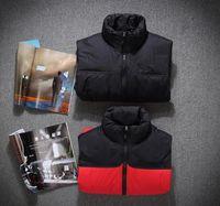Moda Marka Erkekler Kış Aşağı Yelek Tüy Elbise Ceket Kuzey Mens Açık Suya Aşağı Yelek Ceket Adam Ceket Yelek Face Isınma