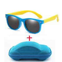 15 ألوان أزياء الأطفال النظارات الشمسية بنين بنات أطفال استقطاب الرضع مكبرة TR90 السيليكا جل السلامة نظارات الطفل نظارات uv400 oculos