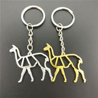 Joyería de moda clave de la cadena de alpaca linda Origami alpaca joyería del encanto colgante llavero para las mujeres regalo llavero encargo al por mayor