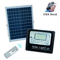 Alta Qualidade Solar Poste Projector Spotlight 20W 40W 70W 100W 200W impermeável ao ar livre Solar Flood Spot Light Lâmpadas