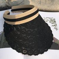 Yaz Dantel Boş Üst Siperlik Açık Moda Hollow Plaj Şapka Çiçek Desen Dantel Güneş Koruma UV Cap 60pcs T1I1986