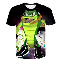 Family-friendly 3D Harajuku cartoon T-shirt, teenager Sonic movie anime series printed short sleeves, summer promotion children's clothing f