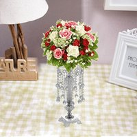 Акриловые Кристалл Свадебный цветок держатель Кристалл цветок посуда Таблица Centerpiece Ваза Стенд S размер 43см высокое свадебное украшение