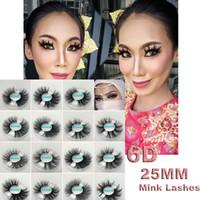 5D Mink Eyelashes Super natural Volumen grueso Desordenado 15 estilos Alta calidad Versión extendida 25mm Pestañas