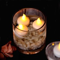 LED Floating Candle Flameless Tea Light, Waterproof Decoratio...