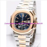 10 Estilo Nuevo Relojes de Lujo 5980 / 1A 40.5mm Plata Oro Acero Inoxidable Pulsera Reloj Automático de Moda para Hombre Reloj de pulsera