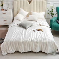 Pearl White Luxury 80S Fashion Brand bedspread tencel Pure b...