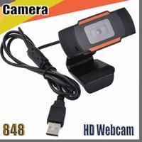 848 de la cámara HD Webcam Web 30fps 640X480 Cámara PC incorporado acústicos absorbentes del sonido del micrófono USB 2.0 Grabación de vídeo para la computadora para PC portátil