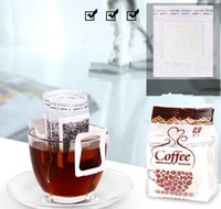 50pcs / Paketi Kahve Filtre Kağıdı Poşet Portatif Asma Kulak Kahve Filtreler Kağıt Tek Serve dökün-Üzeri Kahve litrelik torba KKA4279