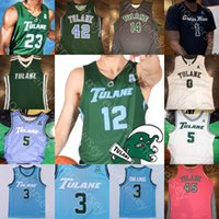 Custom Tulane Green Wave Basketball Jersey NCAA College Teshaun Hightower K.J. Lawson Walker Christion Thompson Thomas Zhang Ray Ona Embo