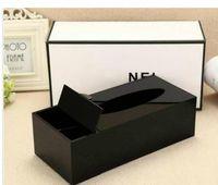 2019 الكلاسيكية الاكريليك ماكياج القطن تخزين مربع التجميل متعددة الوظائف التخزين القطن الأنسجة مربع هدية الزفاف