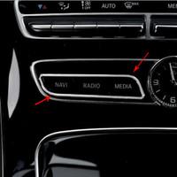 Tableau de bord intérieur Control Center CD Bouton cadre de protection garnitures décoratives autocollants pour Mercedes Benz Classe E C GLC W205 W213 Accessoires Auto