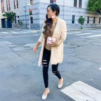 Le donne inverno Fluffy Faux Fur Jacket Warm tuta sportiva del cappotto del parka Outwear Fashion