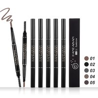 Double- head Eyes Makeup Eye Brow Shaping Drawing Black Penci...