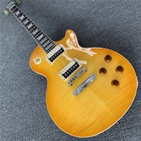 New high quality new to guitar China electric guitar yellow ...