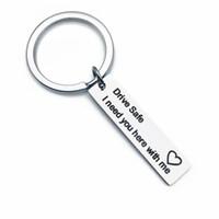 CONDUZIR A SEGURANÇA EU PRECISO-O AQUI COM MIM Porta-chaves Corrente chave Anel Homens Mulheres Condução Segura Chaveiro Carro Chaveiro