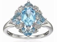 2 шт./лот прекрасный низкая цена высокое качество Алмаз crysltal 925 серебряный леди кольцо размер 6----10ug 11.5 rtyttr