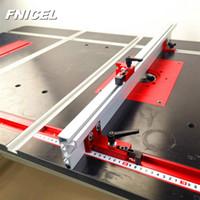 Cerca de perfil de aluminio de 600 mm / 800mm de aluminio 75 mm altura con t-pistas y soportes deslizantes Conector de cerca de manómetro de inglete para carpintería