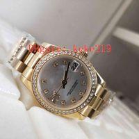 Mode Hohe Qualität Armbanduhren DateJust Pearlmaster 279138RBR 279138 31mm 36mm 18k Gold Stahl Mechanische Automatische Damen Watch