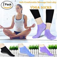 1 Paar Frauen Yoga Socken Schnelltalisch Anti Slip Silikon Gym Pilates Ballett Socken Fitness Sport Socken Baumwolle Atmungsaktive Elastizität