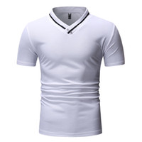 Summer Mens polo Shirts Short Sleeve Solid Polo Shirts Plus ...