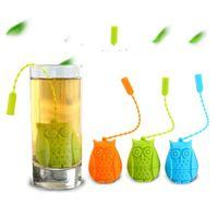 سيليكون بومة أدوات الشاي مصفاة لطيف أكياس الغذاء الصف الإبداعية فضفاضة ورقة التحلل فلتر الناشر متعة الملحقات LXL870Q