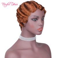 Penteados para Curto Curly Hair Bangs Negro Marley Bob Peruca para Mulheres Negras Brasileira Não Remy Wig Peruca Penteados Preplucked Para Corte