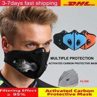 밸브 호흡 필터와 미국 주식 자전거 반 얼굴 마스크는 탄소 PM 2.5 공해 방지 남성 여성 자전거 스포츠 자전거 먼지 마스크를 활성화
