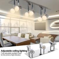 أضواء المسار الداخلية الصمام بسيط متعدد الأضواء الأضواء ضوء مصباح الحديثة جدار التركيز بقعة ل