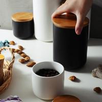 260ML / 800ML / 1000ML مختومة جرة التخزين السيراميك والتوابل دبابات الحاويات لتناول الطعام مع غطاء زجاجة لصنع الشاي العلبة المطبخ