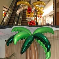 palmera de hojas de aluminio de 90 cm de tamaño globos, hoja del árbol de coco de bodas Casa y jardín / tienda de suministros decoraciones del partido