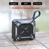 W-King S6-falante portátil Bluetooth Waterproof Música Wireless Speaker Rádio Box Anti-drop Outdoor cartão de bicicleta TF Altifalantes