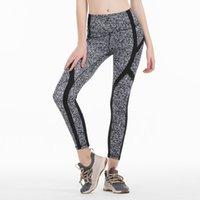Splicing yoga calças de cintura alta mulheres esportes ginásio desgaste desgaste leggings fitness elástico senhora global completo treino