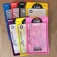 1000PCS 12 * 21cm 7 색 아이폰 11 8 7 플러스 케이스 커버를 들어 지퍼 팩 포장 플라스틱 휴대폰 케이스 가방 휴대 전화 쉘