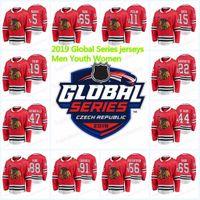 19 Jonathan Toews Chicago Blackhawks Jersey 2019 Global Series 88 Patrick Kane 65 Andrew Shaw 50 Corey Crawford 12 Alex Debrincat Jerseys