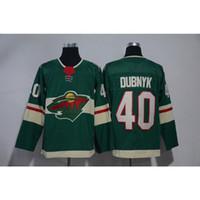 e8d42ed4570 Compre Hombres Minnesota Wild 100 Aniversario Devan Dubnyk Local Visitante  Verde Blanco Hockey Jersey Todos Los Jugadores A $30.46 Del Jerseyplant    DHgate.
