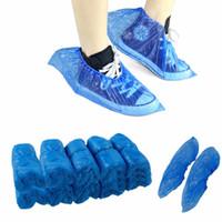 100 pc / pacchetto medici calzari impermeabili di plastica usa e getta copriscarpe Case Overshoes Freeshipping