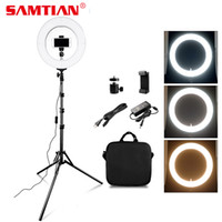 SAMTIAN RL-12A LED Ring Light dimmerabile Bi-color 384PCS 12