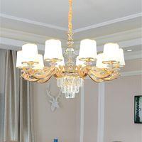 Crestech Européen Crystal Lustre Lampe de séjour Simple Salle à manger moderne Chandelier 2020 Nouvelle chambre à coucher lustre